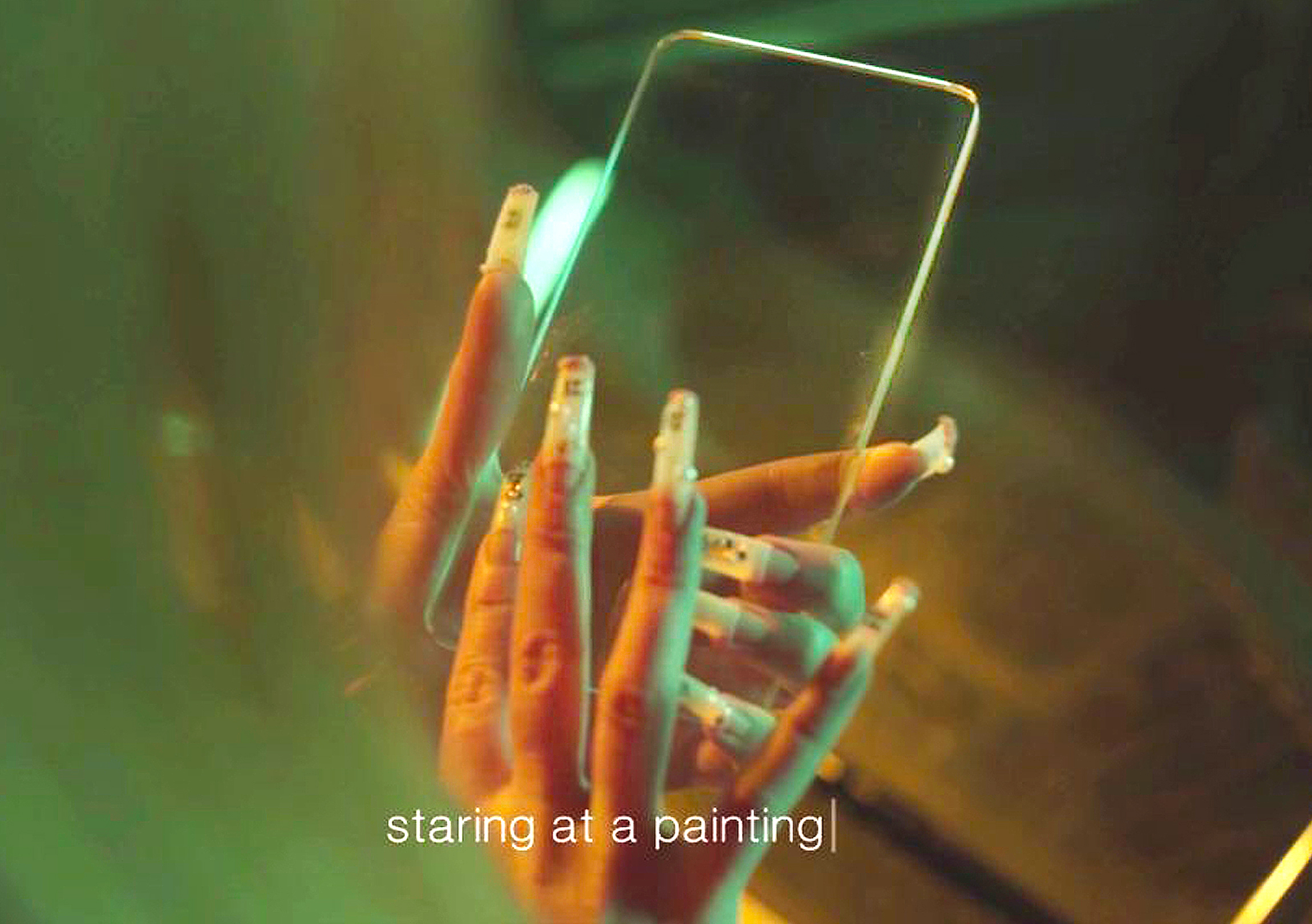 GlassPhone, narrative devices ( video still ), 9th berlin biennale, 2016, ( produced by iconoclast )