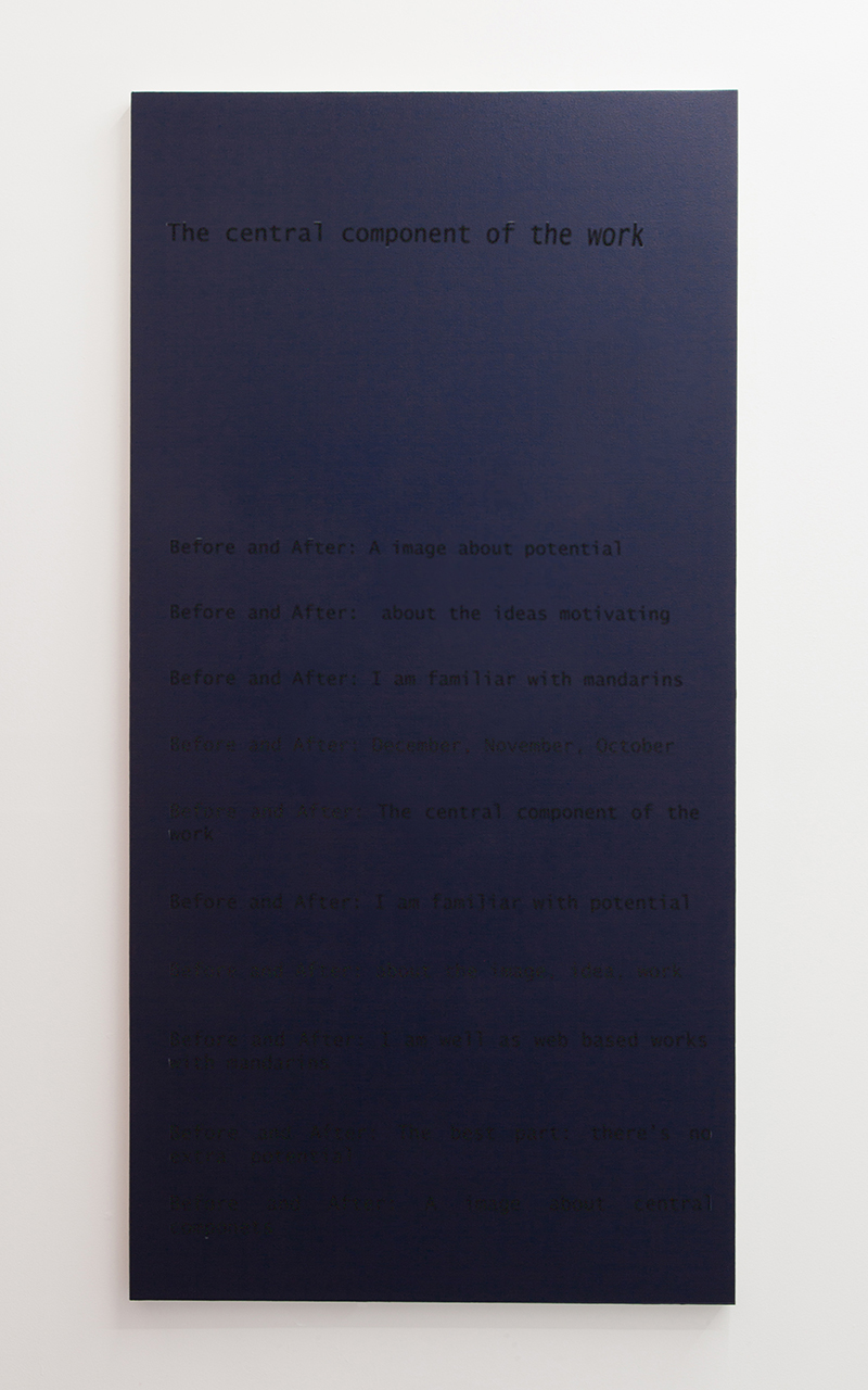 Central Componet, silkscreen on primed canvas, 200 x 105 cm, 2014